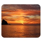 Sunset Sea Afterglow Boot Double Sided Flano Blanket (Small)  50 x40 Blanket Front