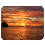 Sunset Sea Afterglow Boot Double Sided Flano Blanket (Medium)  60 x50 Blanket Front
