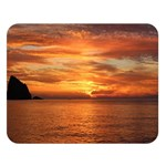 Sunset Sea Afterglow Boot Double Sided Flano Blanket (Large)  80 x60 Blanket Front
