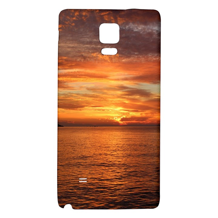 Sunset Sea Afterglow Boot Galaxy Note 4 Back Case