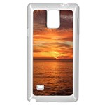 Sunset Sea Afterglow Boot Samsung Galaxy Note 4 Case (White) Front