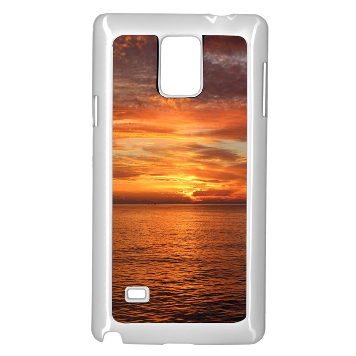 Sunset Sea Afterglow Boot Samsung Galaxy Note 4 Case (White)