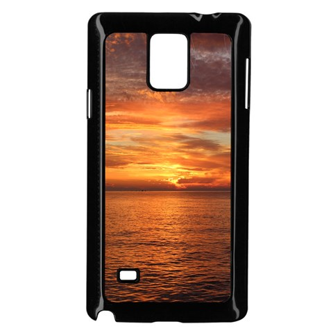 Sunset Sea Afterglow Boot Samsung Galaxy Note 4 Case (Black)