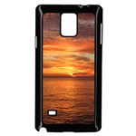 Sunset Sea Afterglow Boot Samsung Galaxy Note 4 Case (Black) Front