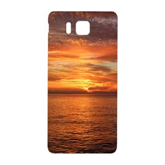 Sunset Sea Afterglow Boot Samsung Galaxy Alpha Hardshell Back Case