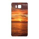 Sunset Sea Afterglow Boot Samsung Galaxy Alpha Hardshell Back Case Front