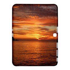 Sunset Sea Afterglow Boot Samsung Galaxy Tab 4 (10.1 ) Hardshell Case