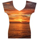 Sunset Sea Afterglow Boot Women s V-Neck Cap Sleeve Top Front