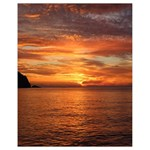 Sunset Sea Afterglow Boot Drawstring Bag (Small) Front