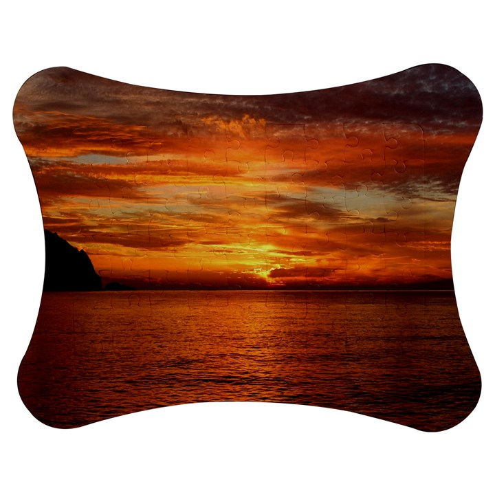 Sunset Sea Afterglow Boot Jigsaw Puzzle Photo Stand (Bow)