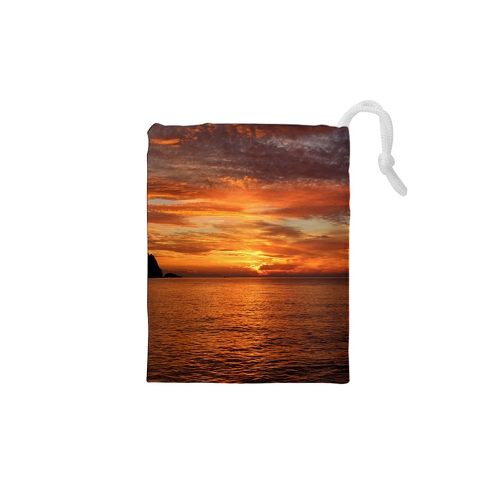 Sunset Sea Afterglow Boot Drawstring Pouches (XS)