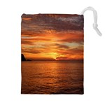 Sunset Sea Afterglow Boot Drawstring Pouches (Extra Large) Front