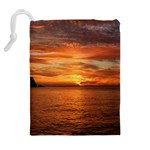 Sunset Sea Afterglow Boot Drawstring Pouches (Extra Large) Back