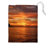 Sunset Sea Afterglow Boot Drawstring Pouches (XXL) Front