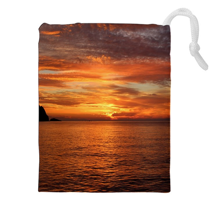Sunset Sea Afterglow Boot Drawstring Pouches (XXL)