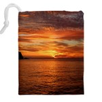 Sunset Sea Afterglow Boot Drawstring Pouches (XXL) Back