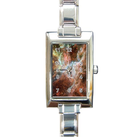 Tarantula Nebula Central Portion Rectangle Italian Charm Watch