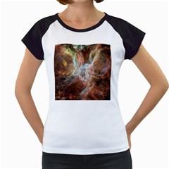 Tarantula Nebula Central Portion Women s Cap Sleeve T