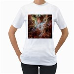 Tarantula Nebula Central Portion Women s T-Shirt (White) (Two Sided) Front