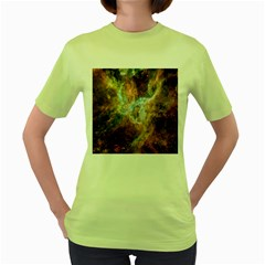 Tarantula Nebula Central Portion Women s Green T-Shirt