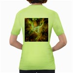 Tarantula Nebula Central Portion Women s Green T-Shirt Back