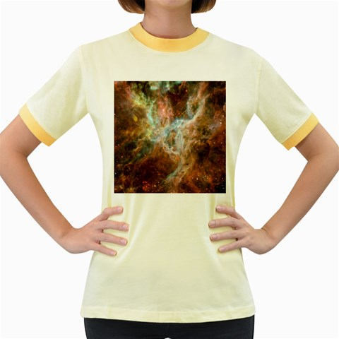Tarantula Nebula Central Portion Women s Fitted Ringer T-Shirts