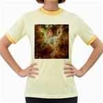 Tarantula Nebula Central Portion Women s Fitted Ringer T-Shirts Front
