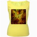Tarantula Nebula Central Portion Women s Yellow Tank Top Front
