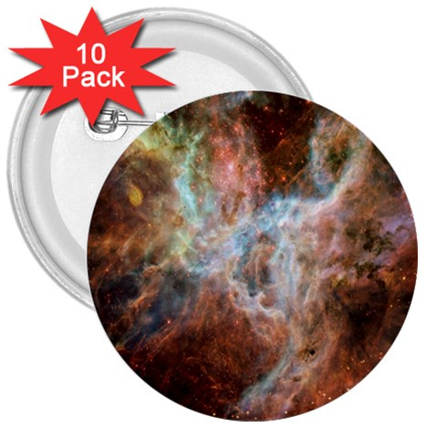 Tarantula Nebula Central Portion 3  Buttons (10 pack)