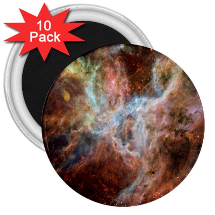 Tarantula Nebula Central Portion 3  Magnets (10 pack)