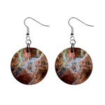 Tarantula Nebula Central Portion Mini Button Earrings Front