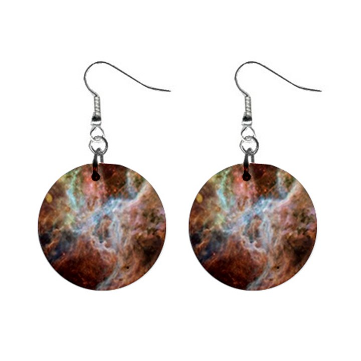 Tarantula Nebula Central Portion Mini Button Earrings