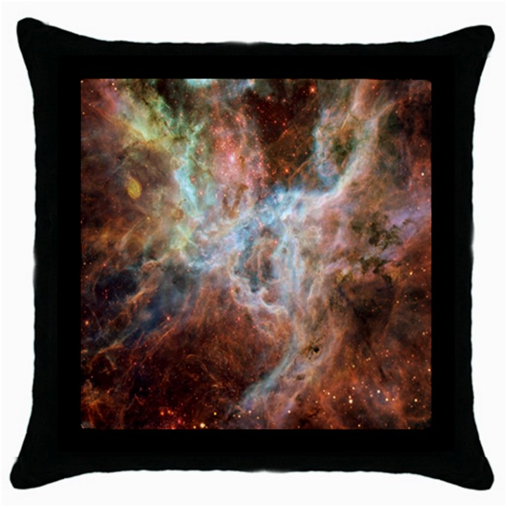 Tarantula Nebula Central Portion Throw Pillow Case (Black)