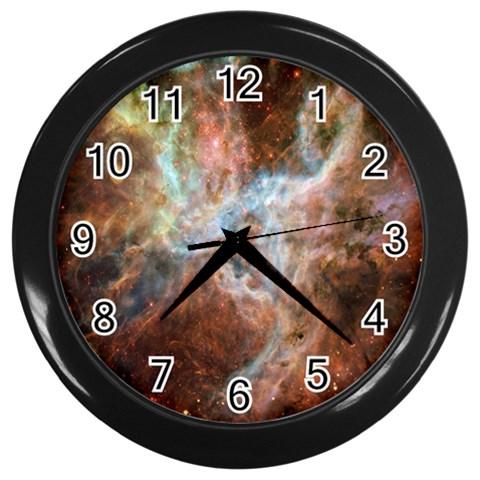 Tarantula Nebula Central Portion Wall Clocks (Black)