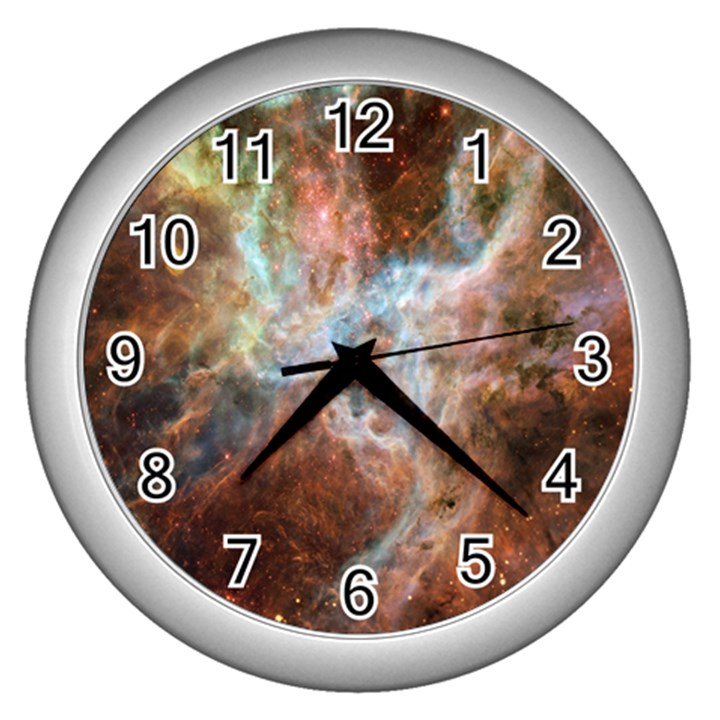 Tarantula Nebula Central Portion Wall Clocks (Silver)