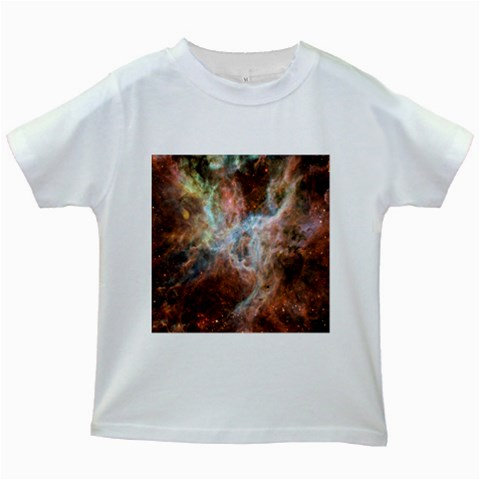 Tarantula Nebula Central Portion Kids White T-Shirts