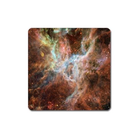Tarantula Nebula Central Portion Square Magnet