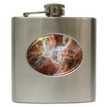 Tarantula Nebula Central Portion Hip Flask (6 oz) Front