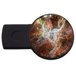 Tarantula Nebula Central Portion USB Flash Drive Round (1 GB)  Front
