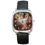 Tarantula Nebula Central Portion Square Metal Watch Front