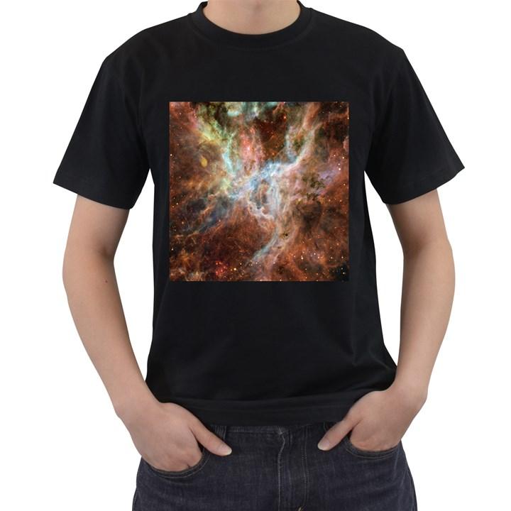 Tarantula Nebula Central Portion Men s T-Shirt (Black) (Two Sided)