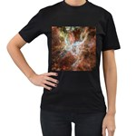 Tarantula Nebula Central Portion Women s T-Shirt (Black) (Two Sided) Front