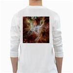 Tarantula Nebula Central Portion White Long Sleeve T-Shirts Back