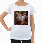 Tarantula Nebula Central Portion Women s Loose-Fit T-Shirt (White) Front