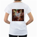 Tarantula Nebula Central Portion Women s Loose-Fit T-Shirt (White) Back