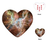Tarantula Nebula Central Portion Playing Cards (Heart)  Front