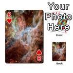 Tarantula Nebula Central Portion Playing Cards 54 Designs  Front - Heart8