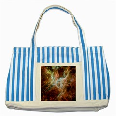 Tarantula Nebula Central Portion Striped Blue Tote Bag