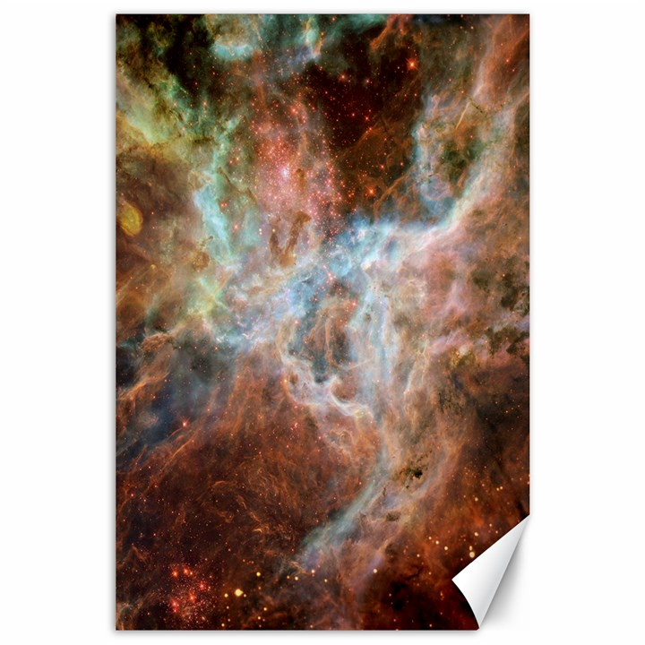 Tarantula Nebula Central Portion Canvas 24  x 36