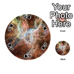 Tarantula Nebula Central Portion Playing Cards 54 (Round)  Front - SpadeA